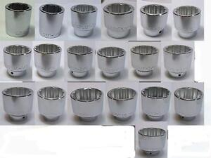 Wright Tool 3//4 Drive 12 Point SAE Socket 3//4 15//16 1 Free Shipping  New