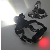 CREE XM-L T6 LED 1600lm Zoom Flashlight Headlight Rechargeable +Charger 2 18650