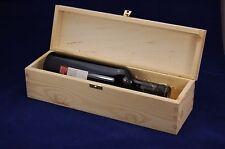 Plain vino in legno Box per 1 BOTTIGLIA standard 75cl REGALO DECOUPAGE Crafts