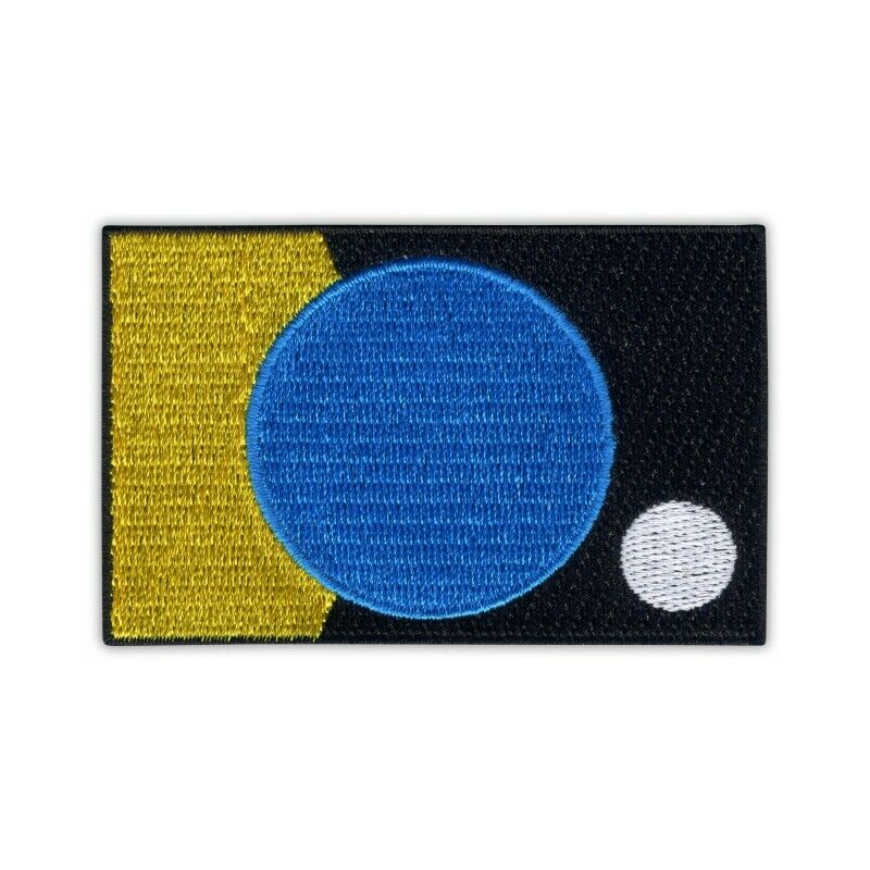 the Flag of the Earth by James W. Cadle - simple border Embroidered PATCH/BADGE