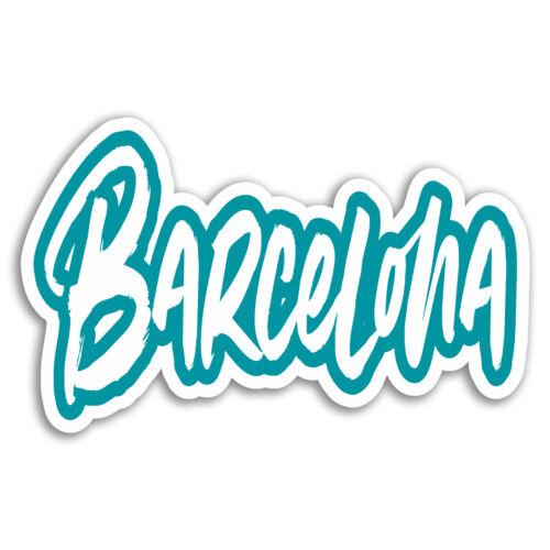 Spain Travel Sticker Laptop Luggage #17749 2 x 10cm Barcelona Vinyl Stickers