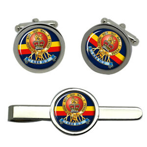 15th-19th-King-039-s-Royal-Hussars-British-Army-Cufflinks-and-Tie-Clip-Set
