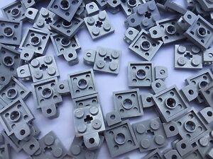 LEGO-63082-10-piezas-de-gris-claro-2-x-2-PLACA-CON-Socket-de-bola