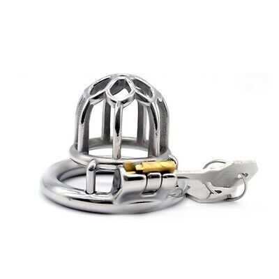 Health Care Latest Male Chastity Device/belt Stainless Steel Metal Cage Cock Lock 08 For Improving Blood Circulation Sexual Wellness