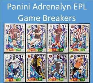2019-20-Panini-Adrenalyn-XL-EPL-Soccer-Cards-Game-Breakers-Cards