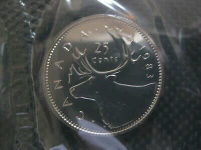 1990 Canadian Prooflike Quarter $0.25