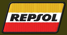 "REPSOL EMBROIDERED PATCH ~4""x 2"" OIL RACING RICAMATO BORDADO PARCHE AUFNÄHER"