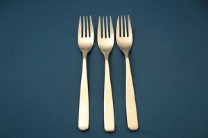 3-Salad-Forks-WMF-Cromargan-NORTICA-Stainless-Japan-Satin-Handle-6-5-8-034