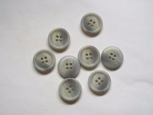 10pc 15mm Light Smoky Grey Faux Bone Coat Suit Cardigan Knitwear Button 4931