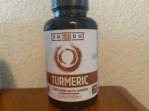 Turmeric Curcumin with Ginger Bioperine 95% Curcuminoids 90 Caps ZHOU NUTRITION