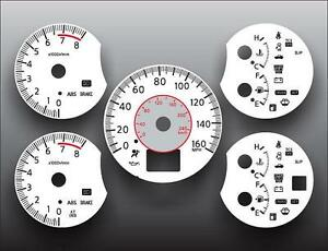 Fits-2005-2006-Nissan-Altima-3-5-Dash-Instrument-Cluster-White-Face-Gauges