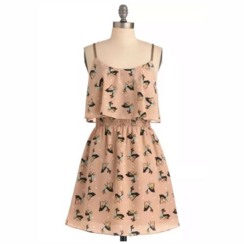Miss Patina Bambi Deer Print Novelty Dress Modclot