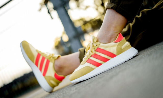 Adidas I 5923 Boost Yellow Red Trainers Shoes UK 7, 8, 8.5, 9, 9.5, 10, 11, 12