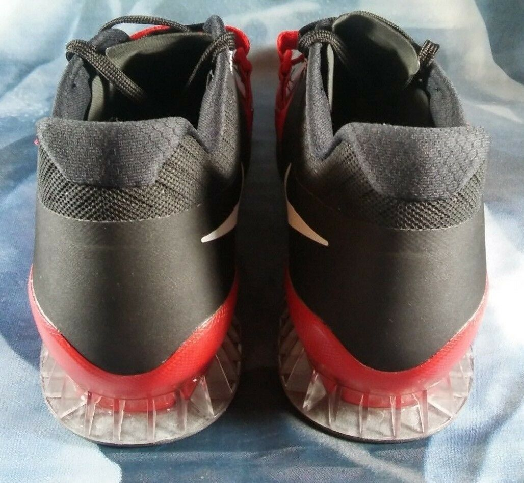 Nike Romaleos 3 3 3 Crossfit Weightlifting Black Red Shoes 852933-600 Men's Size 15 b07e6b