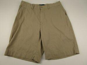 Mens-Polo-Ralph-Lauren-Size-32-Beige-100-Cotton-Flat-Front-Chinos-Khakis-Shorts