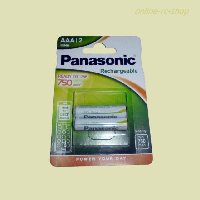 2 Stk. Panasonic Akku P03P AAA 750 mAh für DECT Geräte Schnurlostelefon Telefon