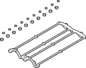 Zylinderkopfhaube für Zylinderkopf 569.460 ELRING Dichtungssatz