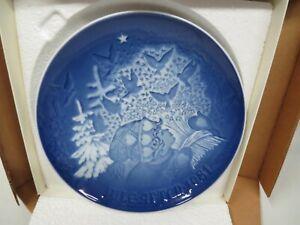 B /& G Bing And Grondahl Copenhagen Denmark Christmas Plate 1981