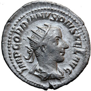 Coins Roman Imperial (235-476ad) Intelligent Roman Coin Silver Antoninianus Gordian Iii 238-244 Ad