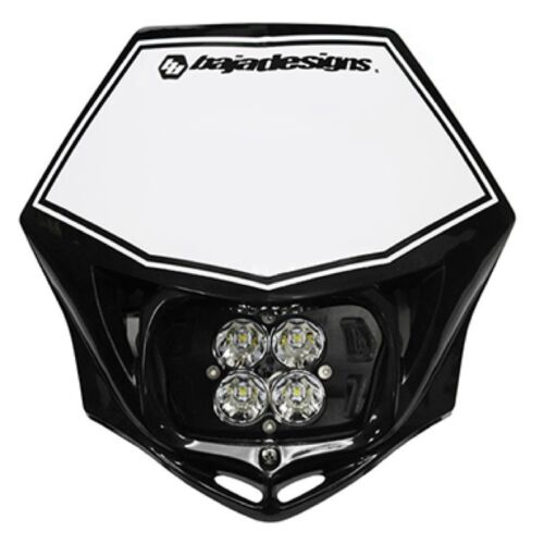 Baja Designs Squadron Pro Motorcycle LED Race Headlight Black Shell