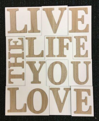 Home Natural /'Live The Life You Love/' 3D Wooden Plaque Deco E BNIP
