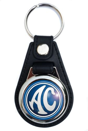 AC ONLY AC SHELBY COBRA FAUX LEATHER KEY RING KEY FOB CLASSIC SPORTS CARS.