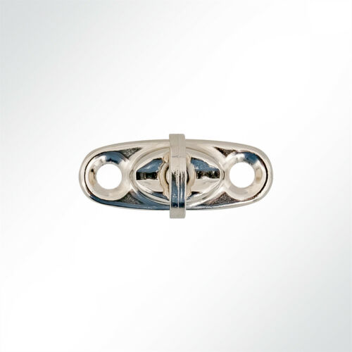 10 Stück LYSEL® Drehverschluss Planenverschluss Messing vernickelt 32x13x7,5mm..