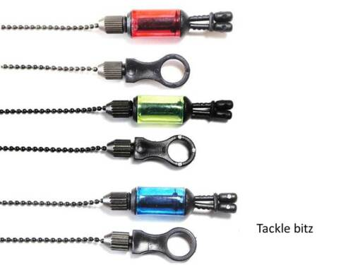 3 réglable Fishing Tackle ROD REST /& 3 bobines Indicateurs Pour Morsure Alarms Pods