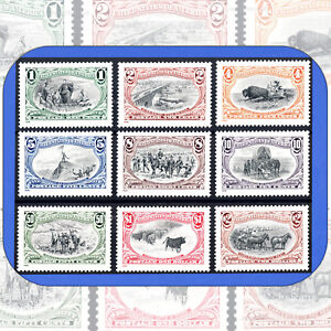 1998-TRANS-MISSISSIPPI-RE-ISSUE-Complete-SET-of-9-Different-Stamps-3209-a-i
