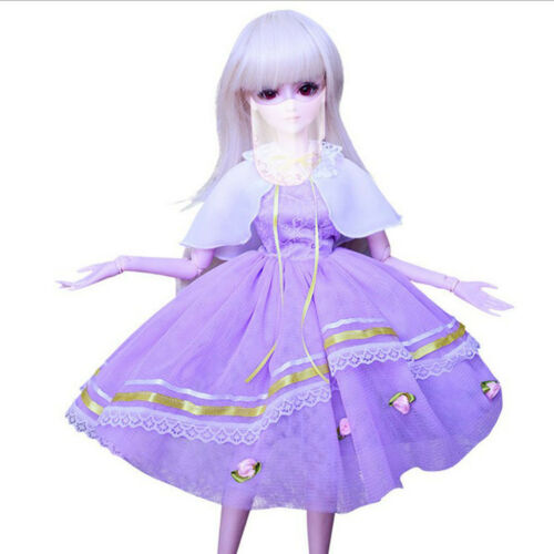 1//3 BJD Smart Doll Clothes for Dollfie DOD SD DD AS Purple Dress Gown Outfit