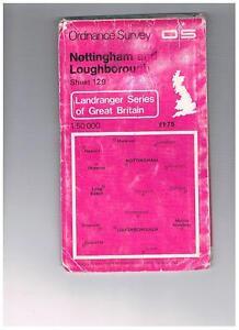 Ordnance-Survey-Map-1-50-000-129-Nottingham-Loughborough-1979-Inc-Melton-Mowbray