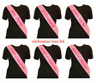 HEN PARTY SASHES PINK HEN NIGHT PARTY DO BRIDE TO BE BRIDESMAID GIRLS NIGHT OUT