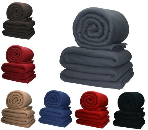 Betz lot de 2 couvertures polaires XXL qualité 200g//m² 220 x 240 cm
