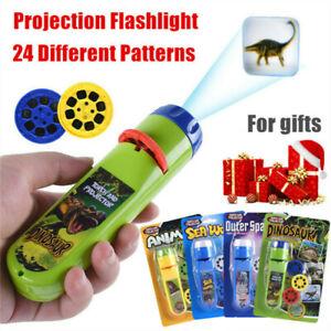 Mini Projector Flashlight Torch Educational Light-up Toys for Children Kids UK
