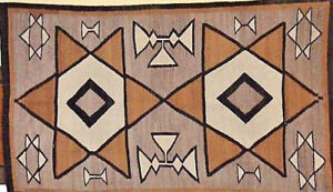 ANTIQUE-TWIN-STARS-NAVAJO-INDIAN-RUG-WEAVING-70-034-BY-41-034-NATURAL-DYES-c-1890