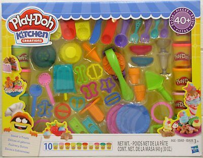 Play Doh Kitchen Creations Sweets N Treats Kids Play Set 40 Pieces Hasbro New 630509673285 Ebay