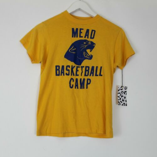 Vintage Hanes Fifty-Fifty Yellow Mead Basketball C