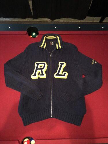 Polo Letterman Zipper Sweater