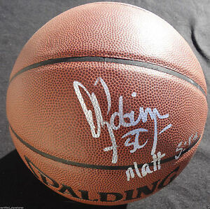 a889a6b74 DAVID ROBINSON SIGNED NBA BASKETBALL SAN ANTONIO SPURS NAVY ALL STAR ...