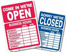 9574 Double Sided Openclosed Sign With Business Hours 105 X 145 Inches