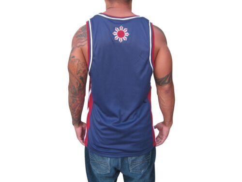 Blue Red Filipino Jersey Manny Pacquiao Shirt Pinoy Pride Philippines