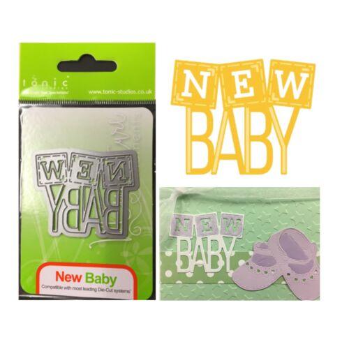 New Baby Metal Die Cut Tonic Cutting Dies 1263E Words,Blocks,Phrases