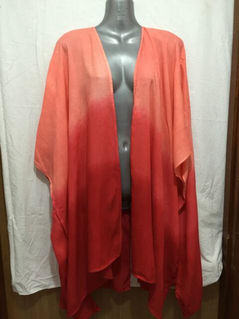 BNWT Womens Sz 20 to 22 Autograph Brand Blood Orange Kimono Style Jacket RRP $70