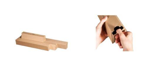 Versandhülsen 20 Stück Falthülsen Trapezhülsen viereckig Größe wählbar