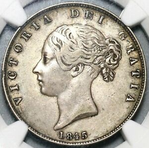 1845-NGC-XF-40-Victoria-1-2-Crown-Great-Britain-Silver-Coin-20080901C