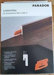 PARADOR-Leistenclips-Clipse-fuer-Sockelleiste-ASL-3-und-ASL-6-ORANGE