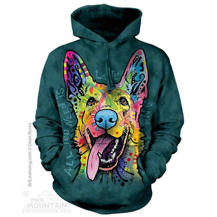 The Mountain Dean Russo Love Shepherd Dog Animal Hoodie Hooded Sweatshirt 724098