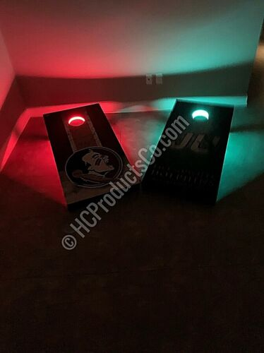 Bluetooth Controlled Cornhole Lights with 16 million Colors and  Motion Options