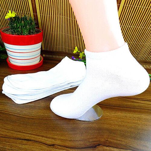 Beautiful 1Pairs White Men and Women Fashion Pure Cotton Ship Socks 25CM BWZ12