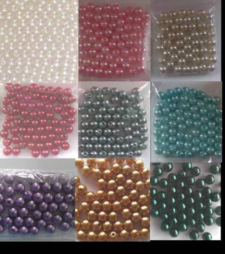 100 x Quality Faux Pearl 8mm Acrylic Imitation Pearl Beads Wedding Pearls